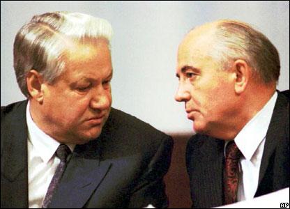 Yeltsin, un Judas a la diestra de Gorbachov