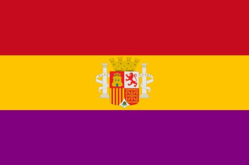 """Bandera de la Segunda República Española, la que duró entre el 14 de abril de 1931 y el 1 de abril de 1939. De ella quieren apropiarse neocomunistas como Julio Anguita, aquien los auténticos republicanos debemos decir. """"NO PASARAN"""""""