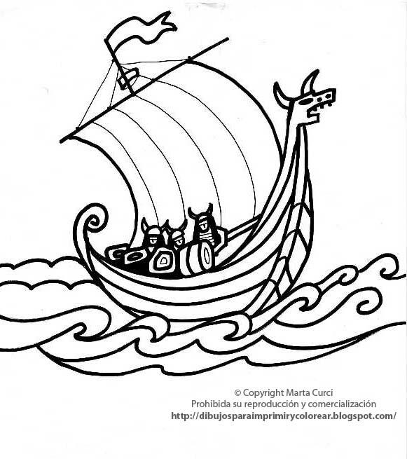 Dibujo De Barco Vikingo Para Colorear El Hombre De Cuba