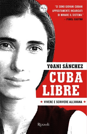 Portada de la edición intaliana, impresa, de los textos de Yoani Sánchez