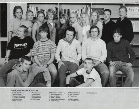 Algunos de mis alumnos en la Escuela Superior de Roslagen (Ruslaguen)