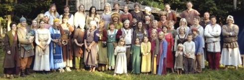 Reproducción de una aldea vikinga en, Storholmen, Svanberga, al norte del Norrtälje. Foto tomada de la página del poblado-museo