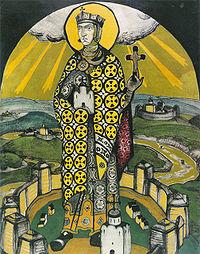 La princesa y santa ortodoxa Olga de Kiev