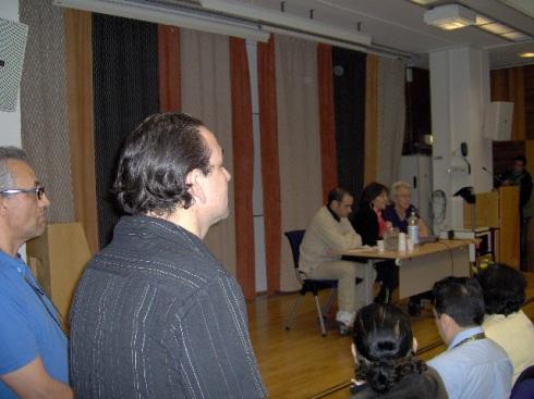 Mariela Castro, ofrece una conferencia en los edificios de ABF este martes 16 de junio, aquí en Estocolmo. Foto: Carlos M. Estefanía