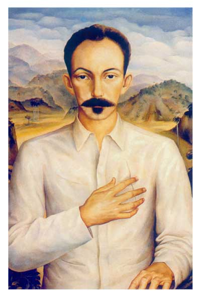 José Martí, revolucionario y periodista cubano de ideología nacionalista y liberal. Cuestionó al socialismo de estado  (aarxista)y al libertario, reconciendo en ellos sus virtudes morales.