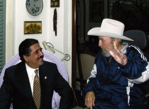 Zelaya con Fidel Castro