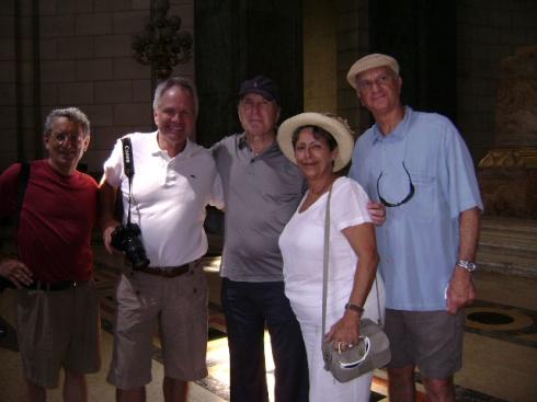 Al centro Robert Duvall, al que todos recuerdan entre tantos papeles como el consejero del padrino. Tambien está en La Habana. Fotografía: Mayra Gómez Fariñas