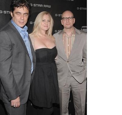 """El Trio de """"Che"""":El actor del Toro, la productora Bickford y el director Soderbergh"""