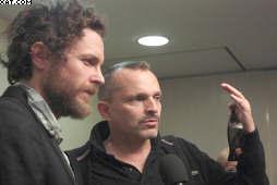 Jovanotti en La Habana junto a Miguel Bosé, segun foto difundida por Prensa Latina