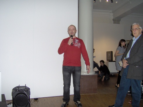David Santaeulària (director de Zero1) habla sobre el proyecto. Foto: Carlos M. Estefanía