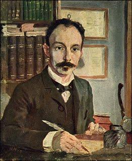 """José Martí escribiendo, año 1891; reflejado en una obra del artista escandinavo Hermann Norman; es el único retrato directo al óleo que se conoce de """"El Hombre de La Edad de Oro"""""""