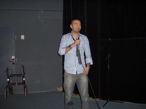 Karzan Kader durante la presentación de su película. Foto. Carlos M. Estefanía
