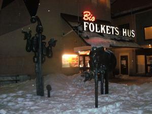 Al fin llegué a tiempo a la Casa del Pueblo de Årsta. Foto; Carlos M. Estefanía