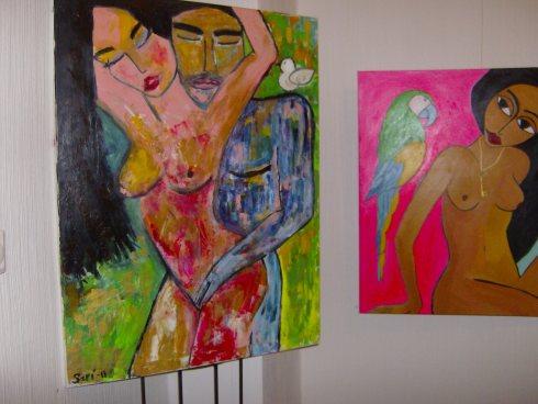 Obras de Sari Palmroth. Foto: Carlos M. Estefanía